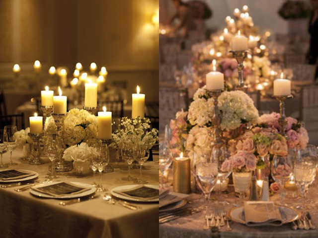 How to decorate with candles jacaranda catering for Candles for wedding tables decoration